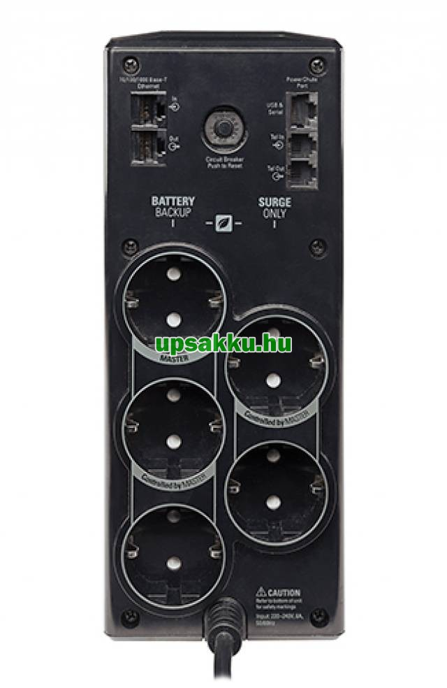 APC Back-UPS BR900G-GR szünetmentes tápegység - Hátoldal