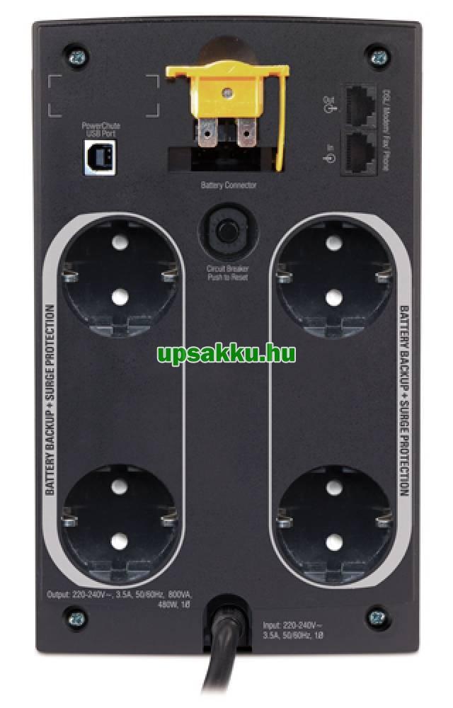 APC Back-UPS BX950U-GR (normál dugós) szünetmentes tápegység - Hátlap