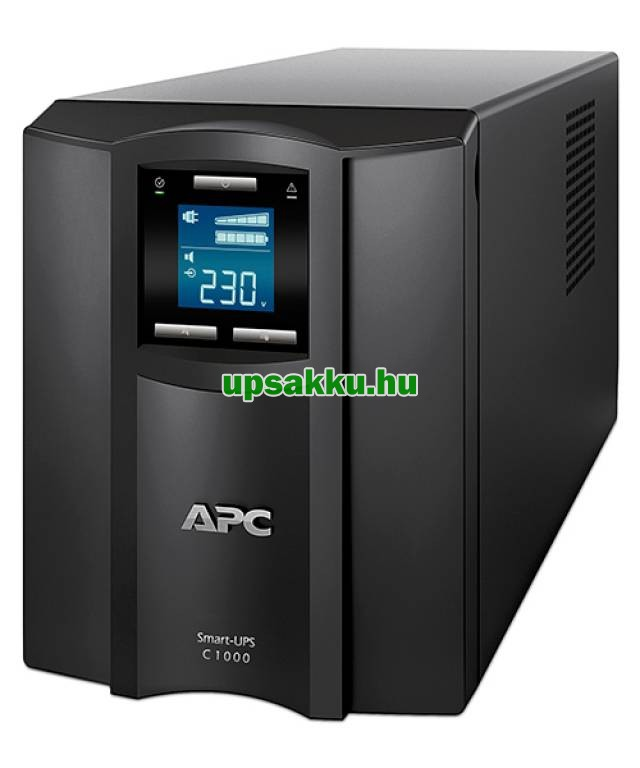 APC Smart-UPS SMC1000IC LCD szünetmentes tápegység Smartconnect - Elölnézet