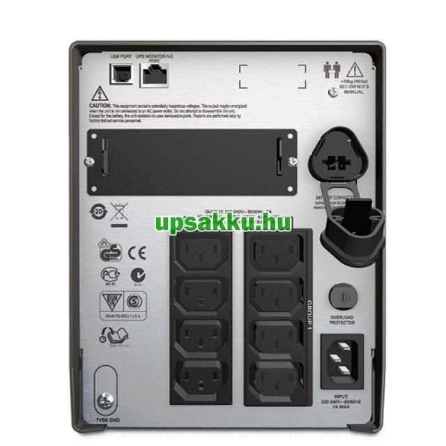 APC Smart-UPS SMT1000I LCD szünetmentes tápegység - Hátulnézet