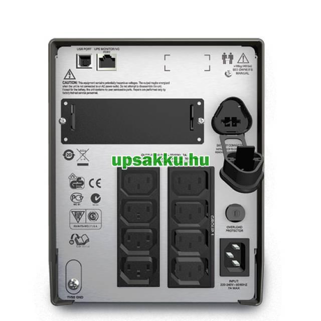 APC Smart-UPS SMT1500IC LCD szünetmentes tápegység Smartconnect - Hátlap