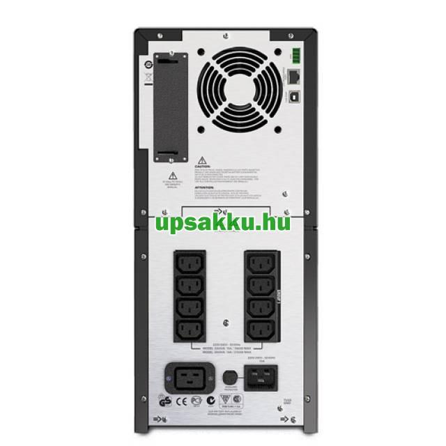 APC Smart-UPS SMT2200IC LCD szünetmentes tápegység Smartconnect - Hátulnézet