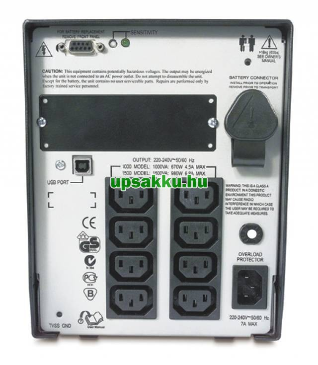 APC Smart-UPS SUA1000I szünetmentes tápegység -