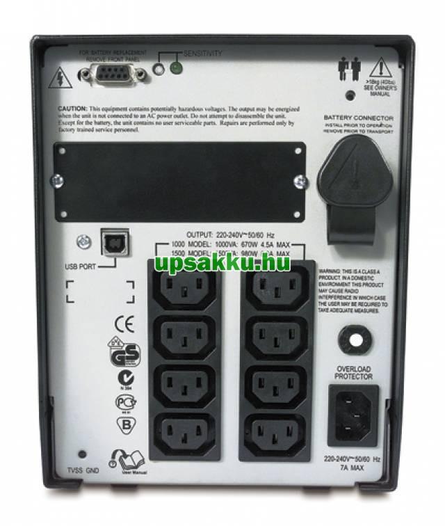 APC Smart-UPS SUA1500I szünetmentes tápegység - Hátulnézet