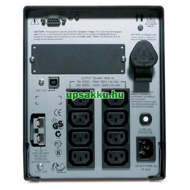 APC Smart-UPS SUA1000XLI bővíthető szünetmentes tápegység - Hátulnézet