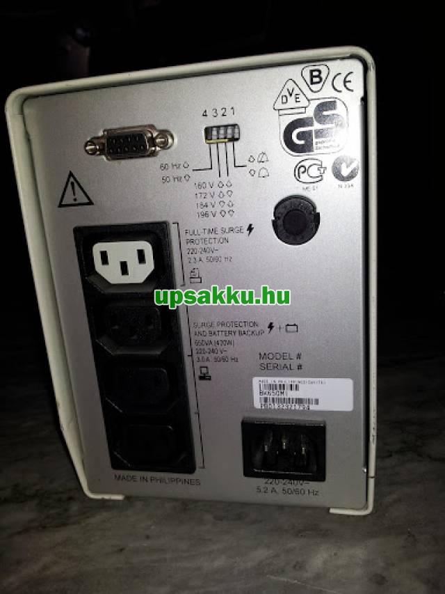 APC Back-UPS BK650MI szünetmentes tápegység - Hátulnézet - illusztráció
