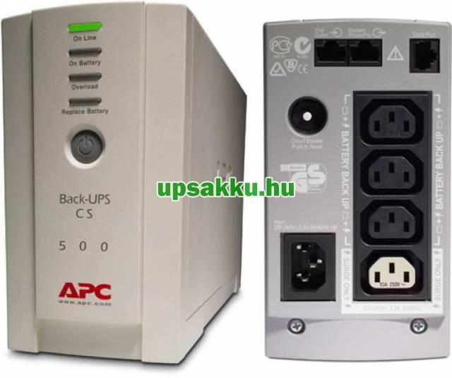 APC Back-UPS BK500EI / CS szünetmentes tápegység felújított - esztétikai hibás! -
