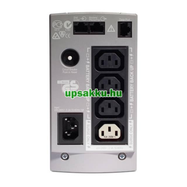 APC Back-UPS BK500EI / CS szünetmentes tápegység - Hátlap