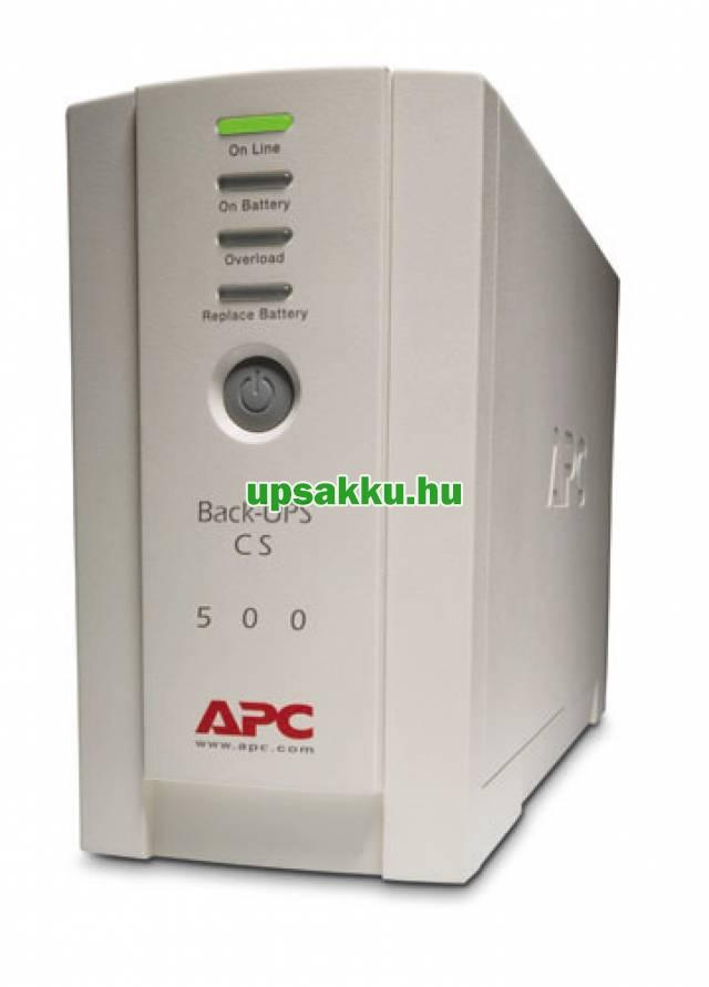 APC Back-UPS BK500EI / CS szünetmentes tápegység - Előlap I.