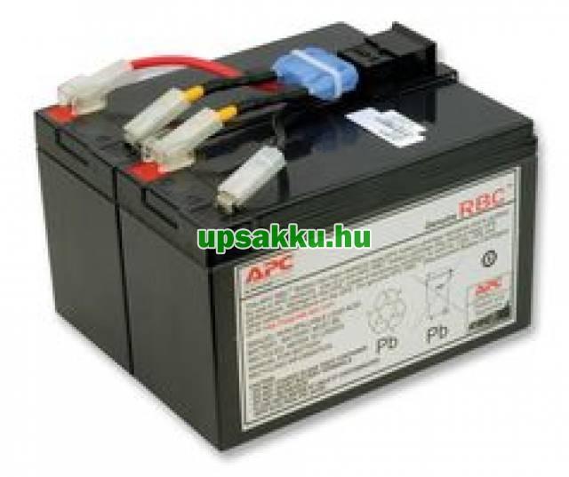 APC RBC48 akkumulátor csomag, akkupakk csatlakozóval, készre szerelve -