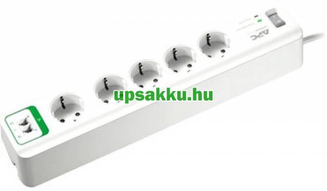 APC PM5T-GR 5-ös túlfeszültség-védő-elosztó fehér + telefon védelem -