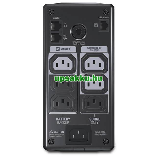 APC Back-UPS BR550GI szünetmentes tápegység - Hátlap