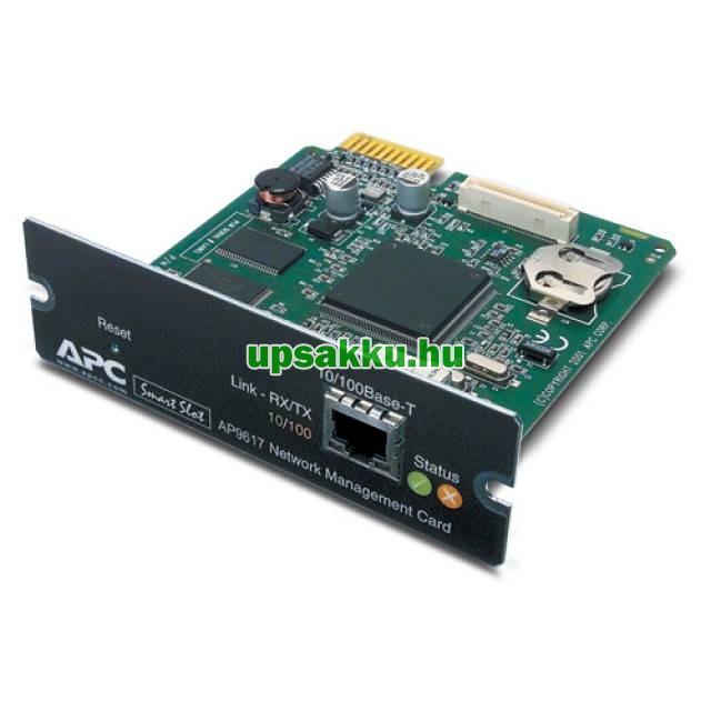 APC AP9617 WEB/SNMP kártya APC szünetmentes tápegységekhez -