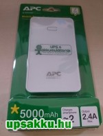 APC M5WH-EC Power Pack, Power Bank 5000mAh fehér - UPSakku.hu nyomattal