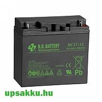 BB BC 17Ah 12V UPS akkumulátor