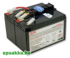 APC RBC48 akkumulátor csomag, akkupakk csatlakozóval, készre szerelve