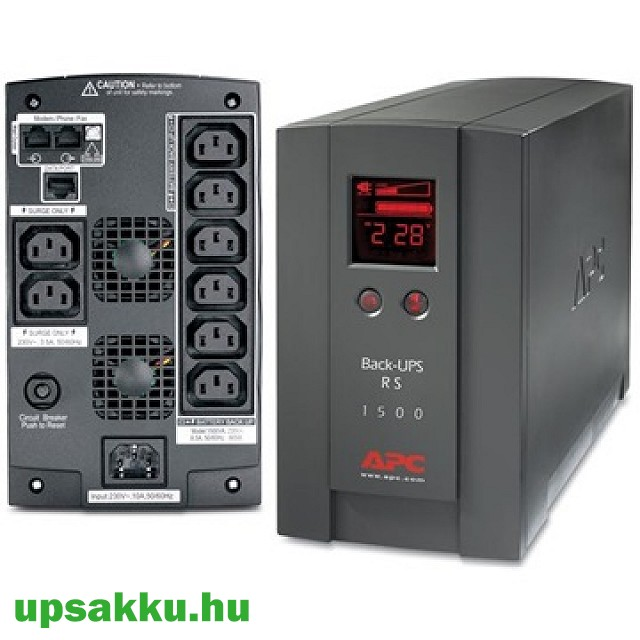 APC Back-UPS BR1500LCDI szünetmentes tápegység
